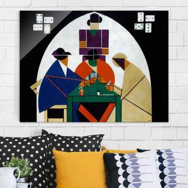 Produktfoto Glasbild - Kunstdruck Theo van Doesburg - Kartenspieler - Quer 3:4