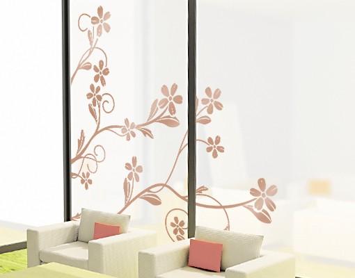 Produktfoto Fensterfolie - Fenstertattoo -  No.IS29 Blütenranke - Fensterbilder Frühling