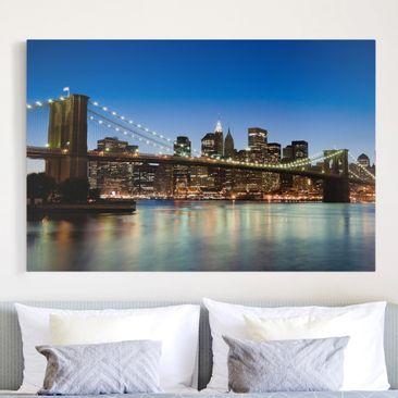 Immagine del prodotto Stampa su tela - Brooklyn Bridge in New York - Orizzontale 2:3