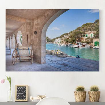 Produktfoto Leinwandbild - Cala Figuera Mallorca - Quer 2:3, vergrößerte Ansicht in Wohnambiente, Artikelnummer 205144-XWA