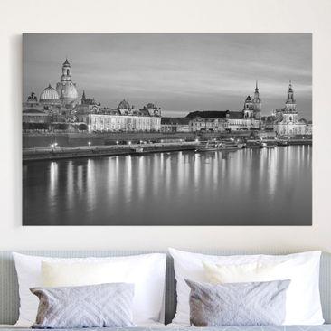 Produktfoto Leinwandbild Schwarz Weiß  .