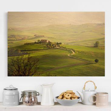 Produktfoto Leinwandbild - Chianti Toskana - Quer 2:3, vergrößerte Ansicht in Wohnambiente, Artikelnummer 205154-XWA