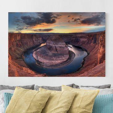 Produktfoto Leinwandbild - Colorado River Glen Canyon - Quer 2:3, vergrößerte Ansicht in Wohnambiente, Artikelnummer 205164-XWA