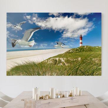 Produktfoto Leinwandbild - Dune Breeze - Quer 2:3, vergrößerte Ansicht in Wohnambiente, Artikelnummer 205204-XWA