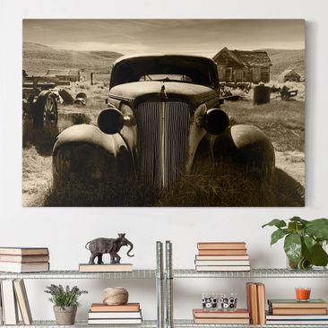 Produktfoto Leinwandbild - Geisterstadt - Quer 2:3, vergrößerte Ansicht in Wohnambiente, Artikelnummer 205266-XWA