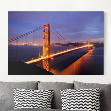 Immagine del prodotto Stampa su tela - Golden Gate Bridge at night - Orizzontale 2:3