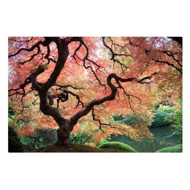 Produktfoto Leinwandbild - Japanischer Garten - Quer 2:3, Frontalansicht, Artikelnummer 205313-FF