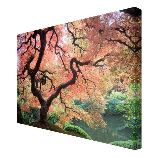 Produktfoto Leinwandbild - Japanischer Garten - Quer 2:3, Spiegelkantendruck rechts, Artikelnummer 205313-FR