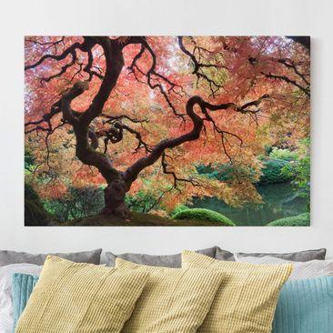 Produktfoto Leinwandbild - Japanischer Garten - Quer 2:3, vergrößerte Ansicht in Wohnambiente, Artikelnummer 205313-XWA