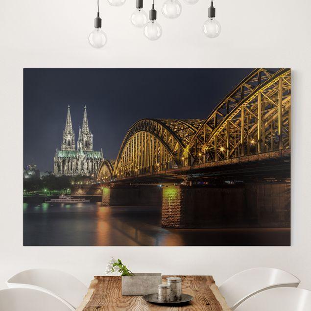 Produktfoto Leinwandbild - Kölner Dom - Quer 2:3