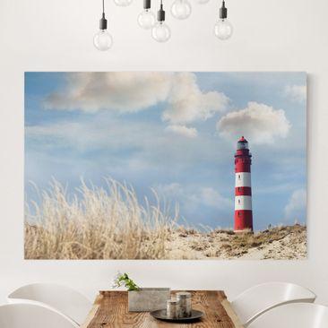 Produktfoto Leinwandbild - Leuchtturm in den Dünen...