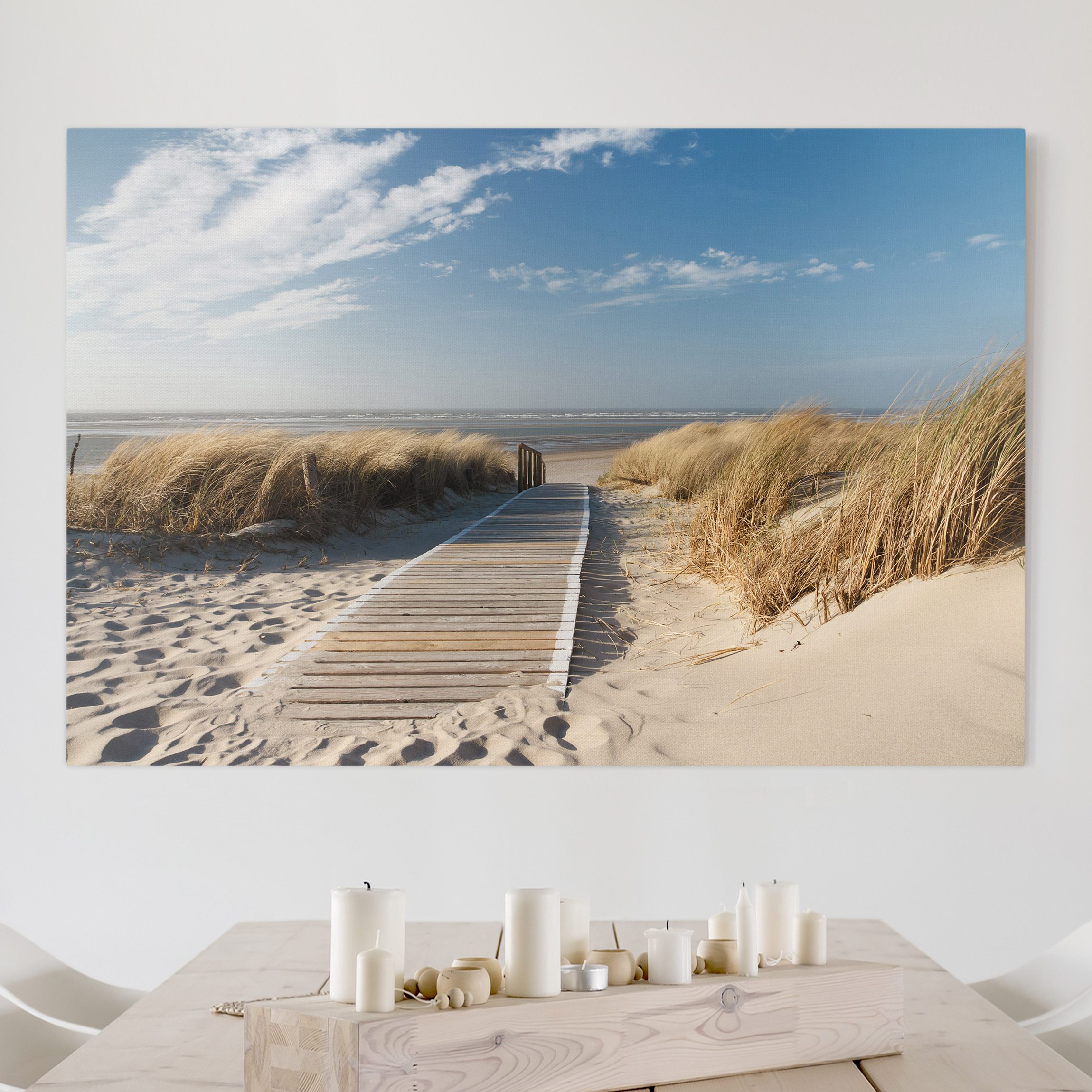 leinwandbild ostsee strand quer 2 3. Black Bedroom Furniture Sets. Home Design Ideas