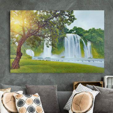 Produktfoto Leinwandbild - Paradise on Earth - Quer 2:3, vergrößerte Ansicht in Wohnambiente, Artikelnummer 205438-XWA