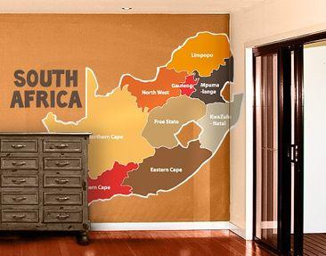 Produktfoto Wandtattoo mehrfarbig No.TA68 Regionen Südafrikas