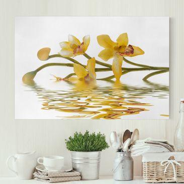 Produktfoto Leinwandbild - Saffron Orchid Waters - Quer 2:3, vergrößerte Ansicht in Wohnambiente, Artikelnummer 205480-XWA