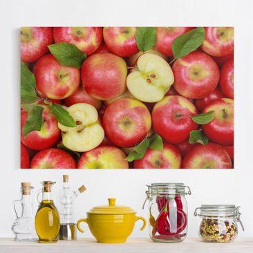 Produktfoto Leinwandbild - Saftige Äpfel - Quer 2:3, vergrößerte Ansicht in Wohnambiente, Artikelnummer 205483-XWA