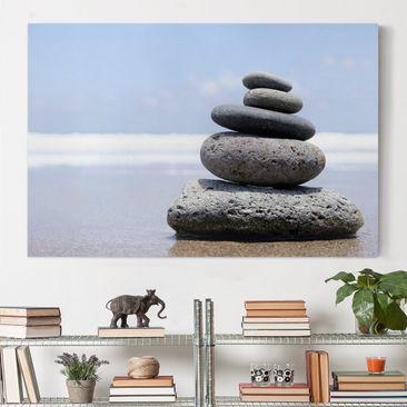 Produktfoto Leinwandbild - Sand Stones - Quer 2:3, vergrößerte Ansicht in Wohnambiente, Artikelnummer 205486-XWA
