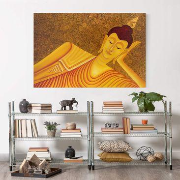Produktfoto Leinwandbild - Shanghai Buddha - Quer 2:3, vergrößerte Ansicht in Wohnambiente, Artikelnummer 205499-XWA