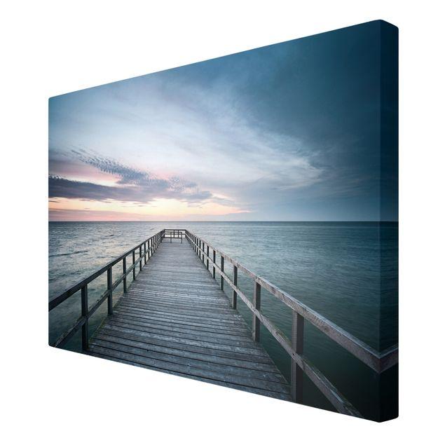 Produktfoto Leinwandbild - Steg Promenade - Quer 2:3, Spiegelkantendruck rechts, Artikelnummer 205525-FR
