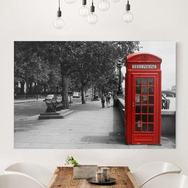 Produktfoto Leinwandbild Schwarz-Weiß - Telephone -...