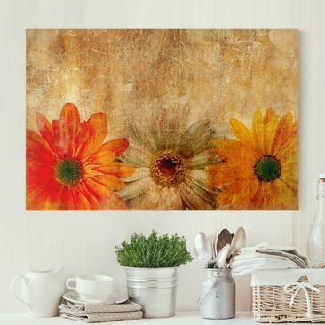 Produktfoto Leinwandbild - Vintage Flowermix - Quer 2:3, vergrößerte Ansicht in Wohnambiente, Artikelnummer 205592-XWA