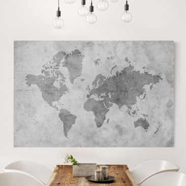 Product picture Canvas Art - Vintage World Map II -...