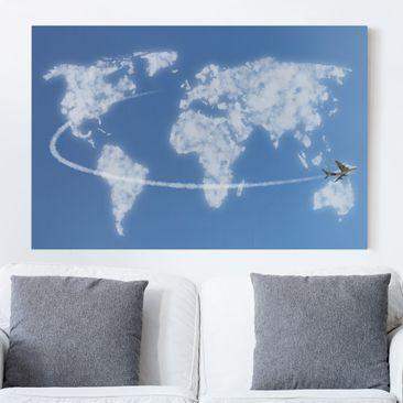 Immagine del prodotto Stampa su tela - World travel above the clouds - Orizzontale 2:3