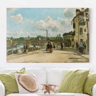 Produktfoto Leinwandbild - Camille Pissarro - Ansicht von Pontoise - Quer 2:3, vergrößerte Ansicht in Wohnambiente, Artikelnummer 205684-XWA