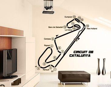 Produktfoto Wandtattoo No.TA72 Barcelona - Circuit de Catalunya