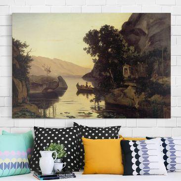 Produktfoto Leinwandbild - Jean-Baptiste Camille Corot - Landschaft bei Riva am Gardasee - Quer 2:3, vergrößerte Ansicht in Wohnambiente, Artikelnummer 205719-XWA