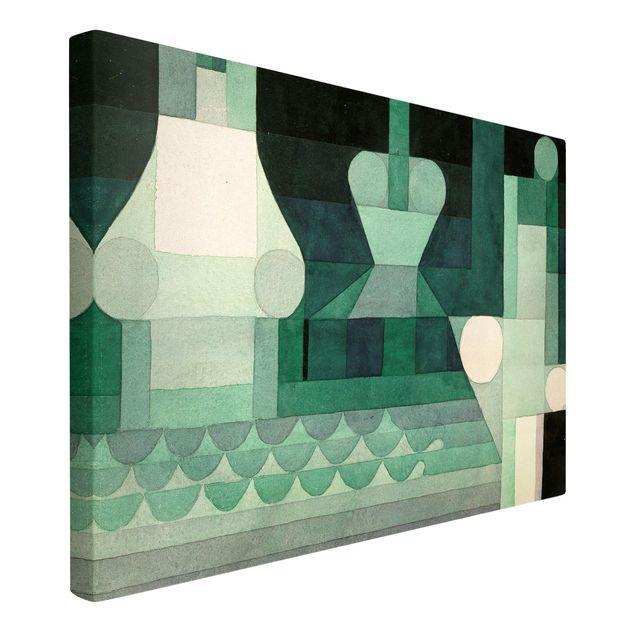 Produktfoto Leinwandbild - Paul Klee - Schleusen - Quer 2:3, Spiegelkantendruck links, Artikelnummer 205752-FL