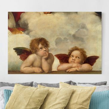 Immagine del prodotto Stampa su tela - Raffael - Two Angels. Detail from The Sistine Madonna - Orizzontale 2:3