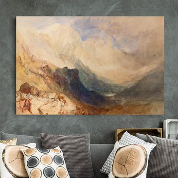 Immagine del prodotto Stampa su tela - William Turner - View along an Alpine Valley, possibly the Val d'Aosta - Orizzontale 2:3