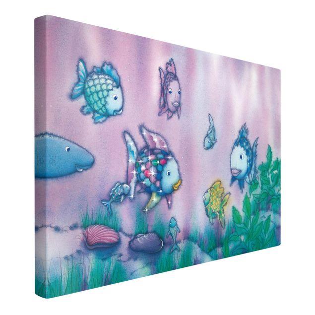 Produktfoto Leinwandbild - Der Regenbogenfisch - Unterwasserparadies - Quer 2:3, Spiegelkantendruck links, Artikelnummer 205814-FL