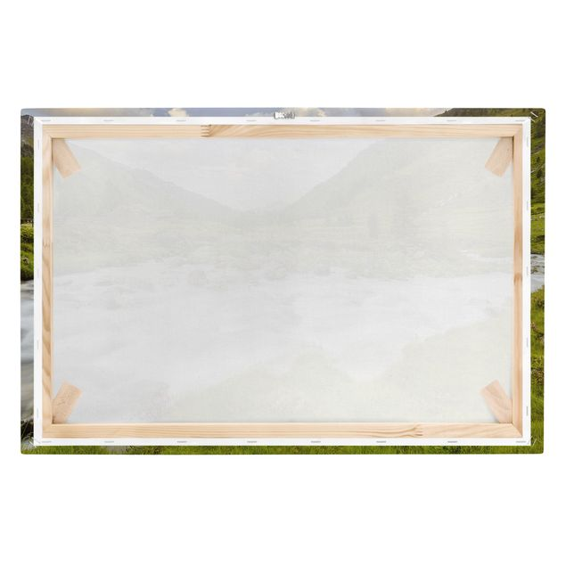 Produktfoto Leinwandbild - Alpenwiese Tirol - Quer 2:3, Keilrahmen Rückseite, Artikelnummer 205839-FB