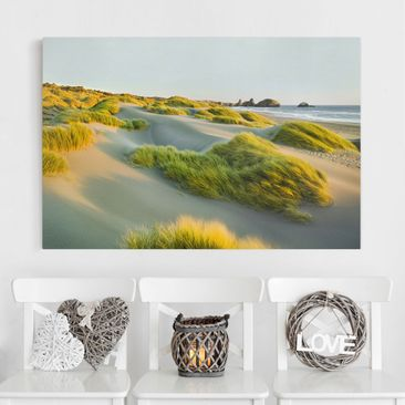 Immagine del prodotto Stampa su tela - Dunes and grasses at the sea - Orizzontale 2:3