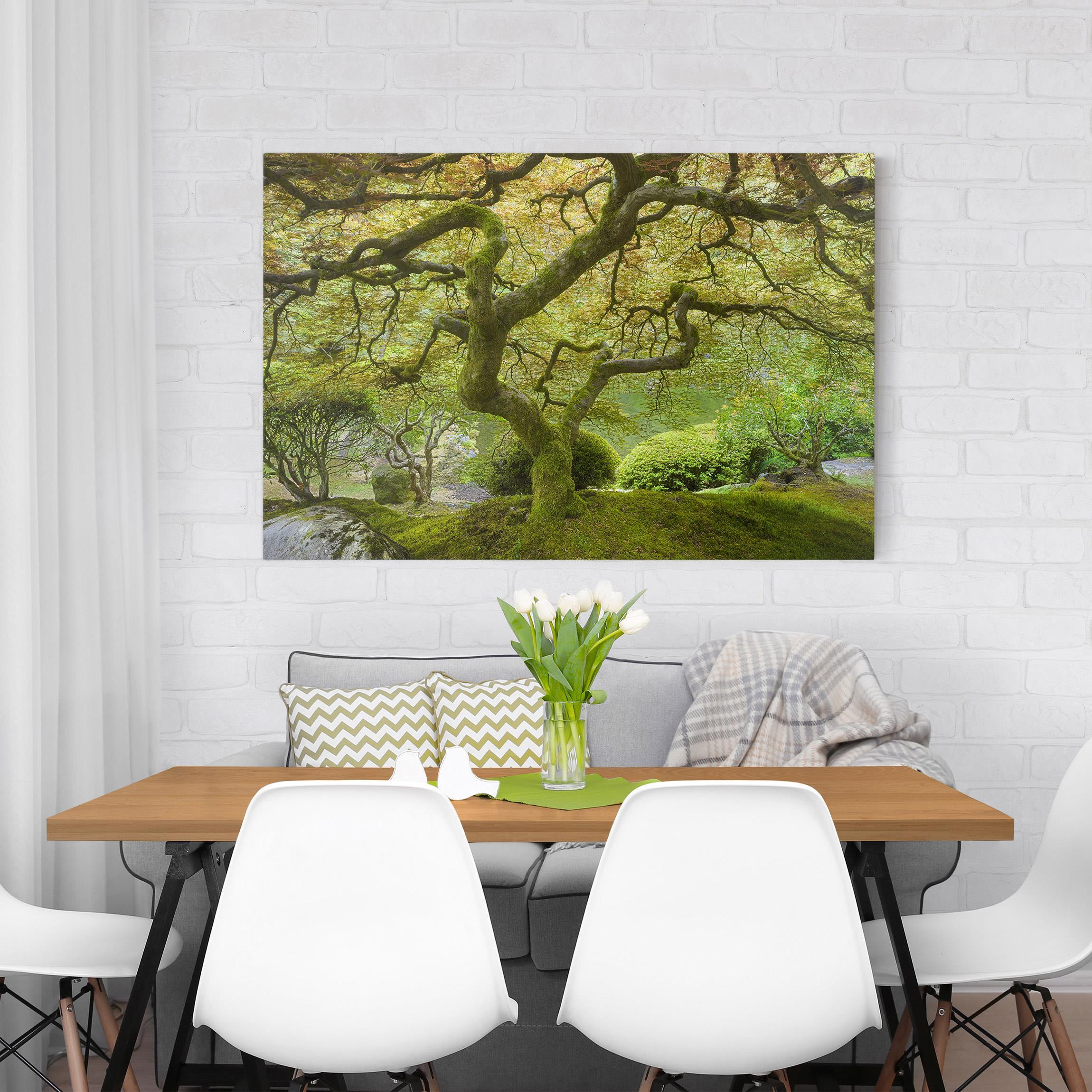 Wandbilder Für Garten: Grüner Japanischer Garten