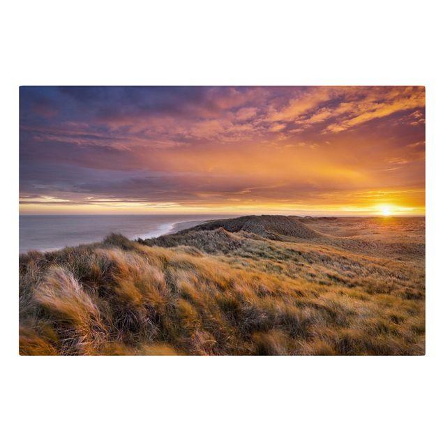 Produktfoto Leinwandbild - Sonnenaufgang am Strand auf Sylt - Quer 2:3, Frontalansicht, Artikelnummer 205864-FF