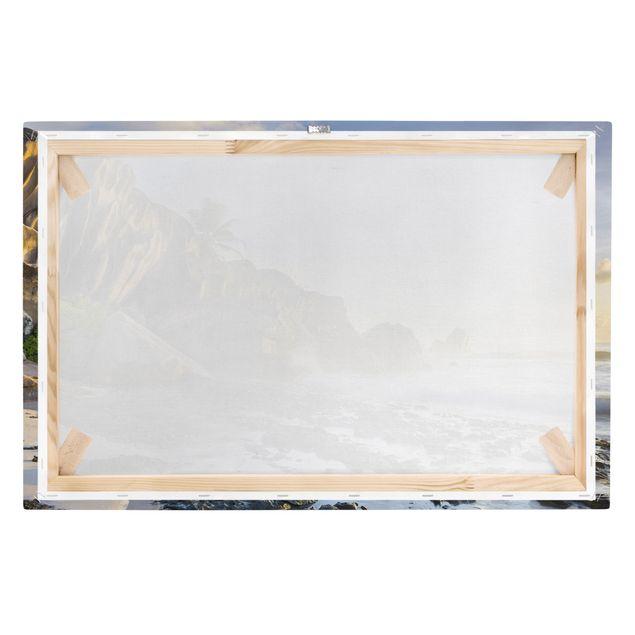 Produktfoto Leinwandbild - Sonnenuntergang im Inselparadies - Quer 2:3, Keilrahmen Rückseite, Artikelnummer 205867-FB