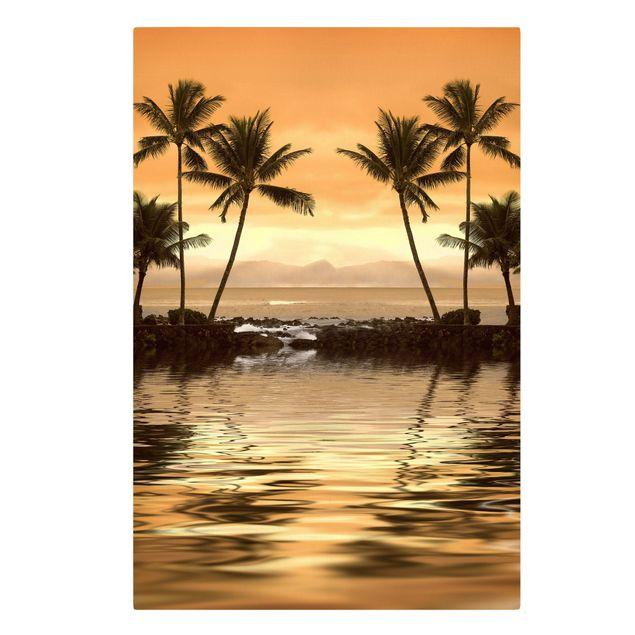 Produktfoto Leinwandbild - Caribbean Sunset I - Hoch 3:2, Frontalansicht, Artikelnummer 205945-FF