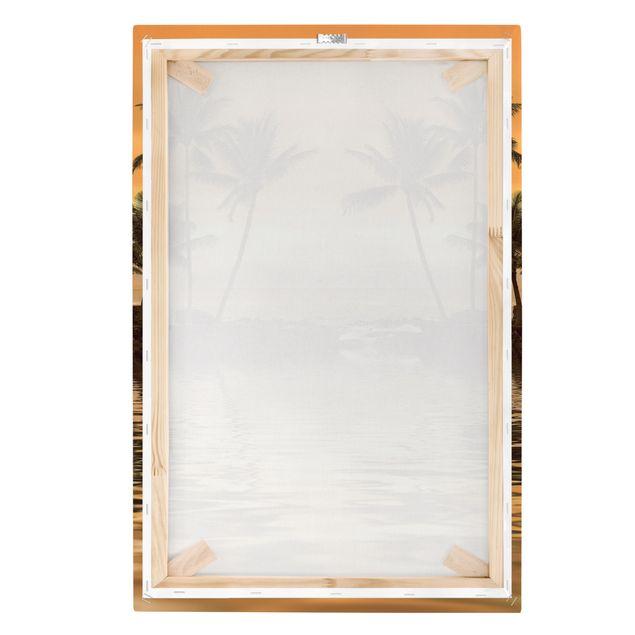 Produktfoto Leinwandbild - Caribbean Sunset I - Hoch 3:2, Keilrahmen Rückseite, Artikelnummer 205945-FB