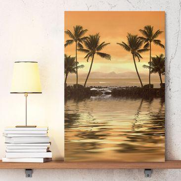 Immagine del prodotto Stampa su tela Caribbean Sunset I - Verticale 3:2