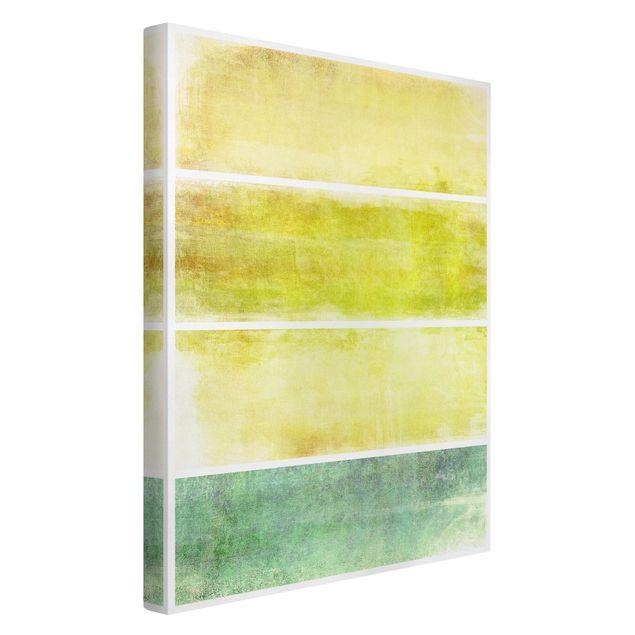 Produktfoto Leinwandbild - Colour Harmony Yellow - Hoch 3:2, Spiegelkantendruck links, Artikelnummer 205950-FL