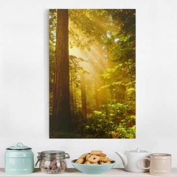 Product picture Canvas Art - Morning Gold - Portrait...