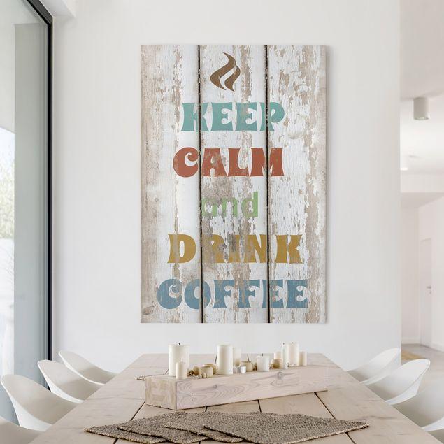 Produktfoto Leinwandbild - No.RS184 Drink Coffee - Hoch 3:2, Spiegelkantendruck rechts, Artikelnummer 206021-FR