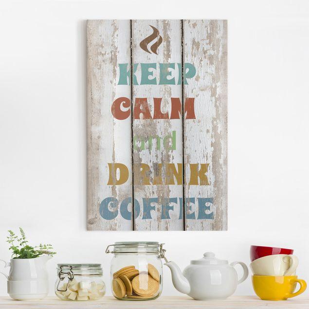 Produktfoto Leinwandbild - No.RS184 Drink Coffee - Hoch 3:2, Keilrahmen Rückseite, Artikelnummer 206021-FB