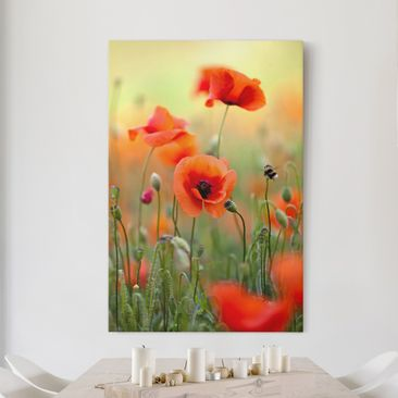 Product picture Canvas Art - Red summer poppy - Portrait...