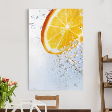 Produktfoto Leinwandbild - Splash Orange - Hoch 3:2