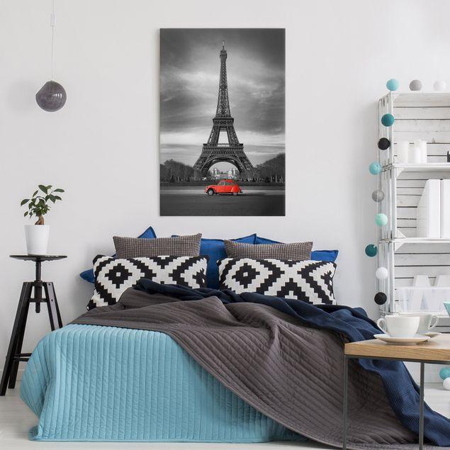 Produktfoto Leinwandbild Schwarz-Weiß - Spot on Paris - Hoch 3:2, in Wohnambiente, Artikelnummer 206045-WA