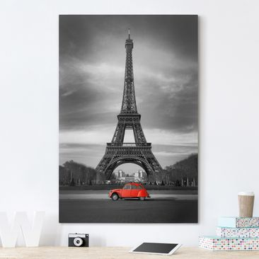 Product picture Canvas Art - Spot on Paris - Portrait...